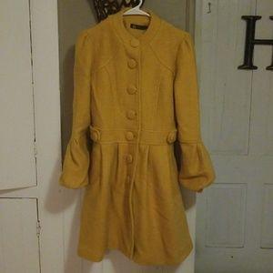 Mustard Jacket Peacoat FUNKY! 70s Vintage Style